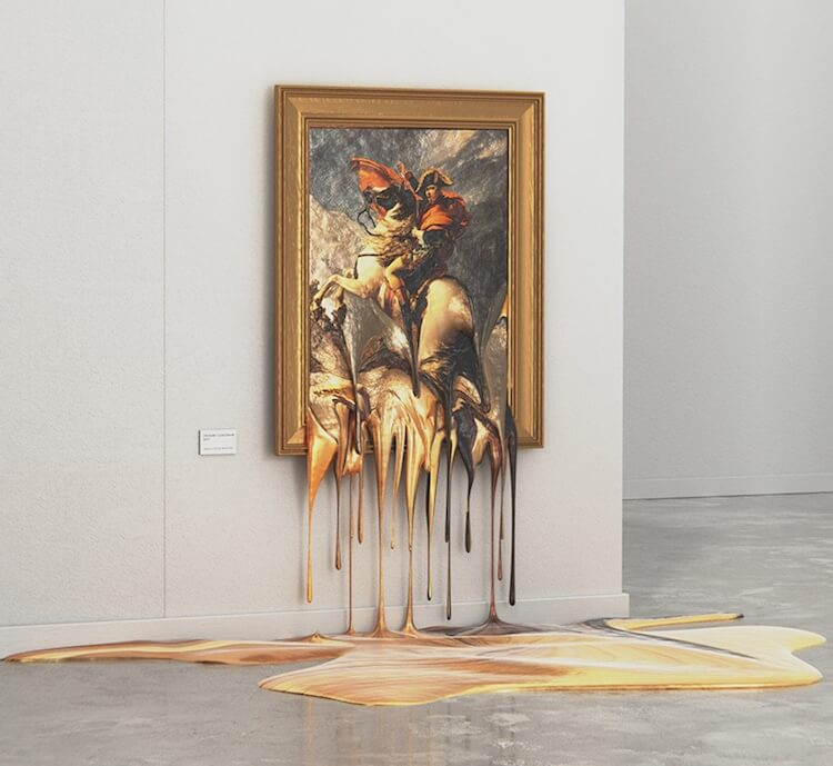 Artist Creates Incredibly Realistic, 'Melting' Paintings In His Series 'Hot Exhibition'
