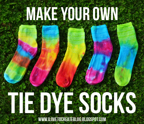 Make Your Own Tie Dye Socks Ilovetocreate