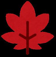 葉っぱのマーク(赤い紅葉)