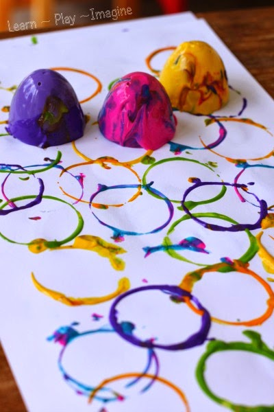 Plastic Easter Egg Prints Learn Play Imagine