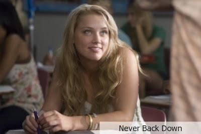 the girl on never back down naked