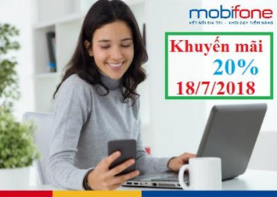 MobiFone khuyến mãi ngày 18/7/2018