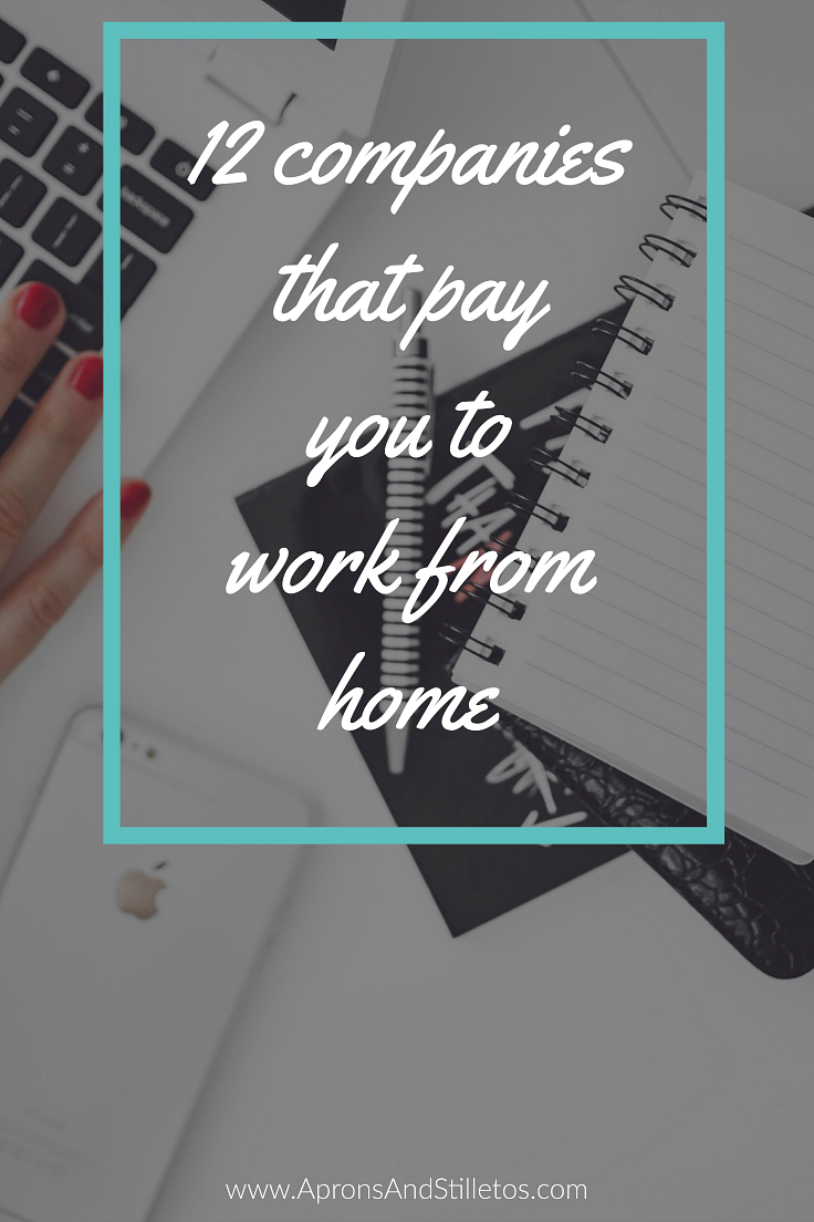 12 Companies that pay you to work from home
