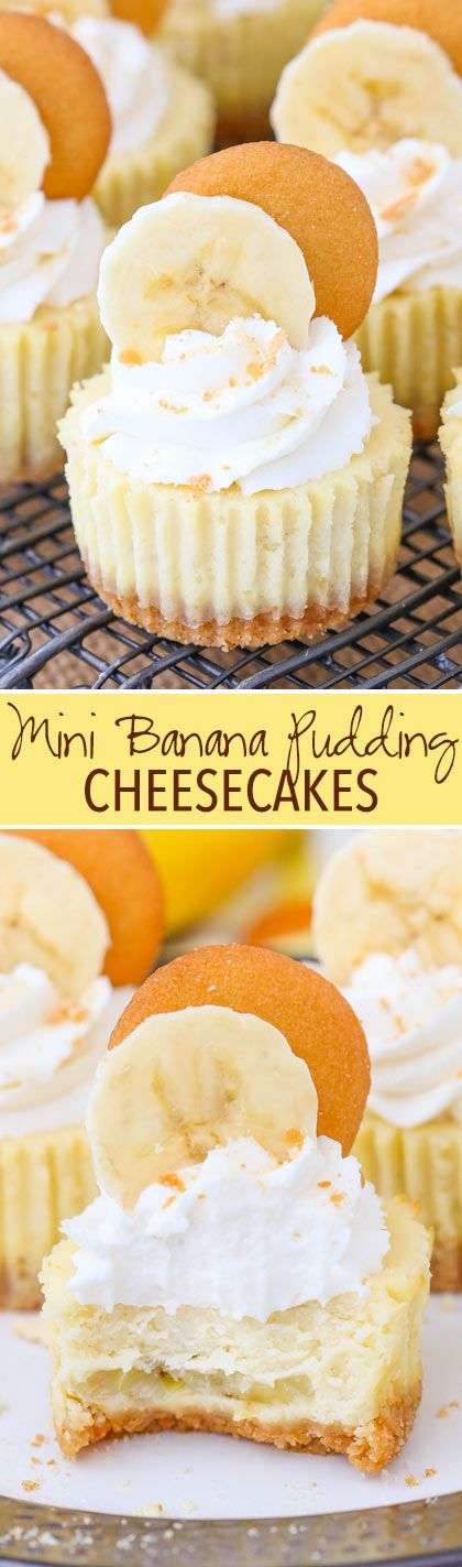 MINI BANANA PUDDING CHEESECAKES
