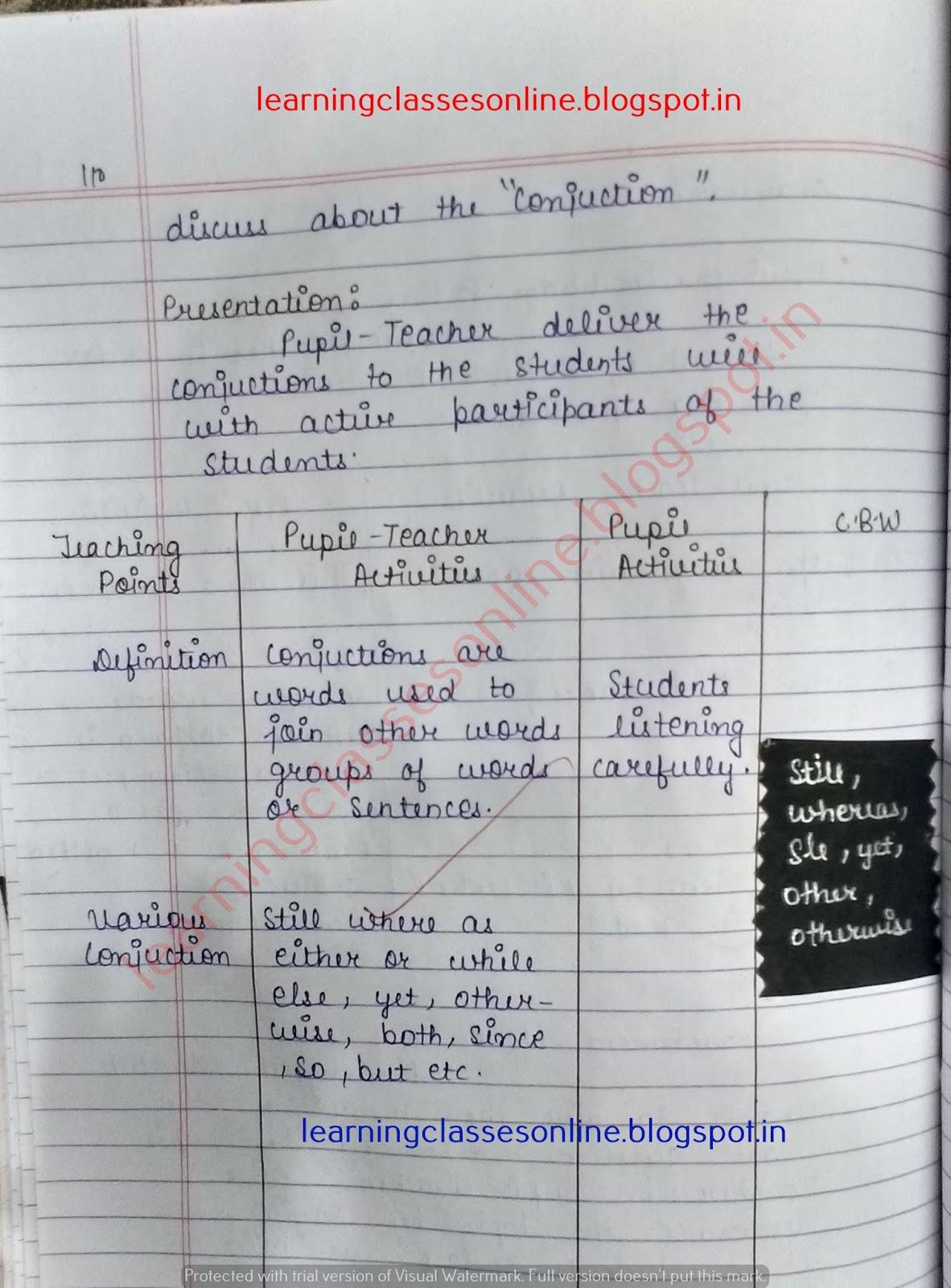 lesson plan in english grade 7,