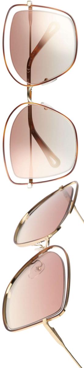 CHLOÉ 60mm Halo Frame Sunglasses
