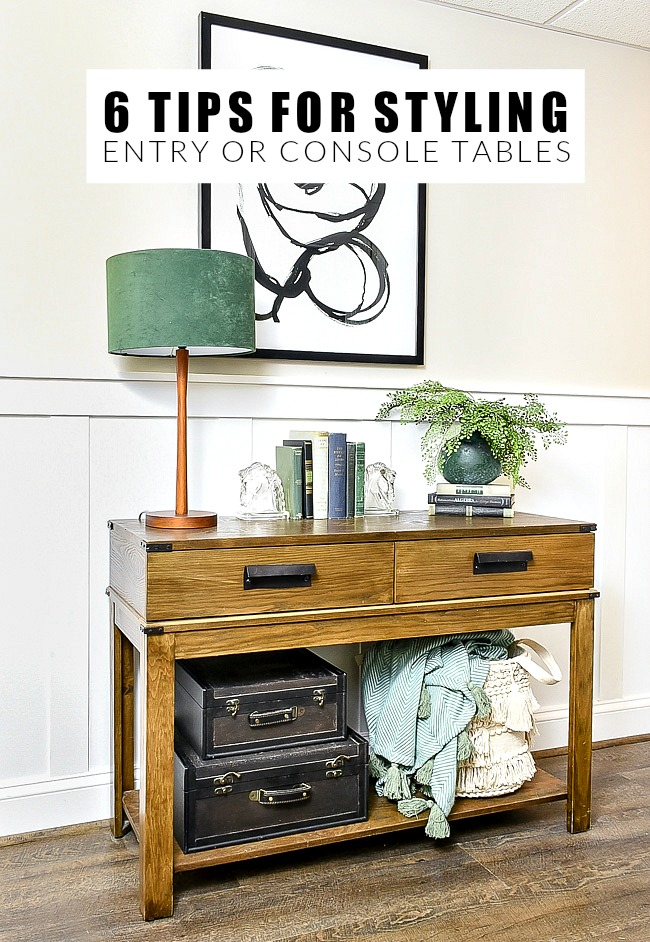 Tips for styling the perfect entry or console table