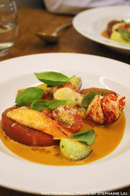 Breton Lobster with Tomato Salad at Spring in Paris