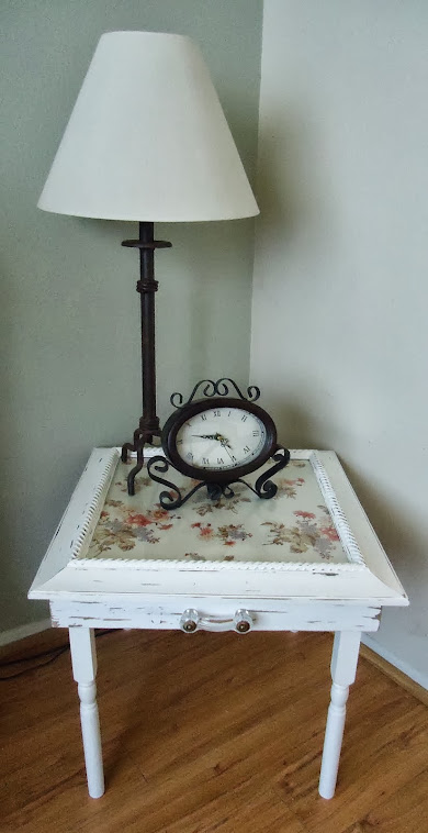 Cottage Style Side/End Table with Vintage Hardware  - SOLD