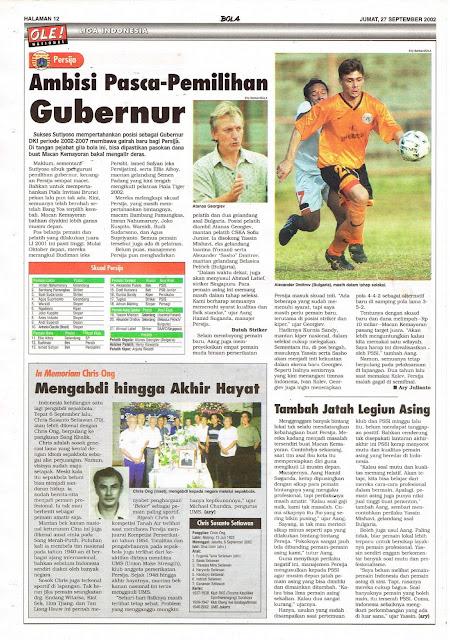 LIGA INDONESIA: PERSIJA AMBISI PASCA-PEMILIHAN GUBERNUR