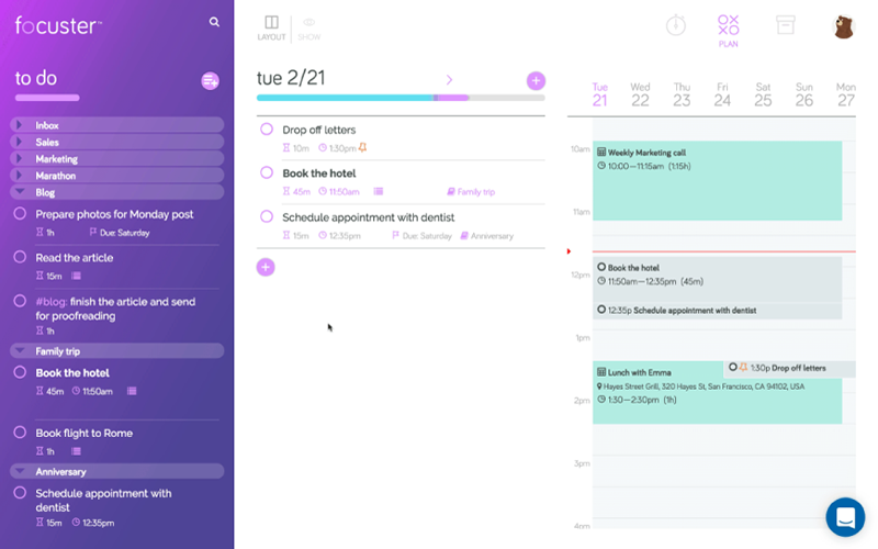Focuster App helps you improve productivity