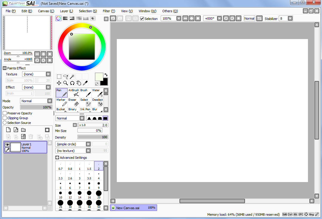 Paint Tool Sai Error  Windows