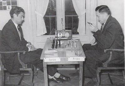 Partida Prins - Torán en el Torneo Internacional de Ajedrez Tarragona 1954