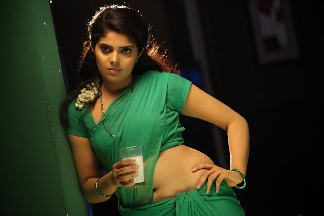 Actress sravya hot saree stills