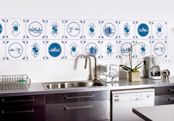 Decorar las paredes de una cocina   colores en casa