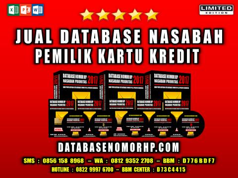 Jual Database Nasabah Pemilik Kartu Kredit