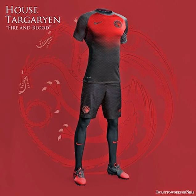 ... de uniformes de futebol de Game of Thrones eb167866c729f