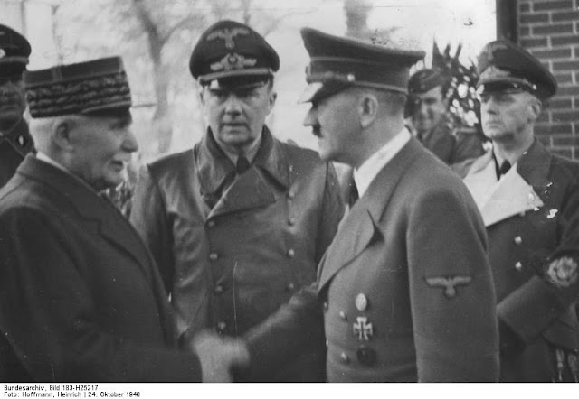 24 October 1940 worldwartwo.filminspector.com Petain Hitler Ribbentrop