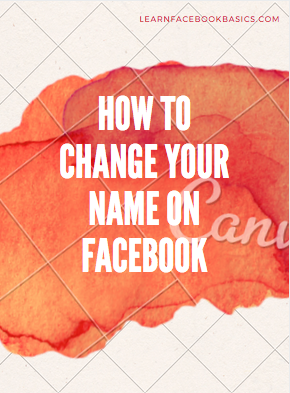 How to Change Name on Facebook | Change Name on Facebook