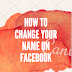 How to change name on Facebook - Change My Last name On Facebook