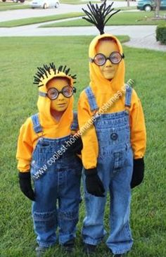 Minion Diy Halloween costumes for toddlers