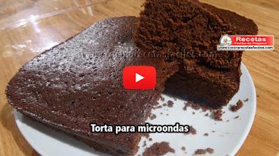 Exquisita torta para microondas fácil y rápida (8 minutos)para salir de un apuro un fin de semana, o cuando tenemos antojo de un postre bien rico.