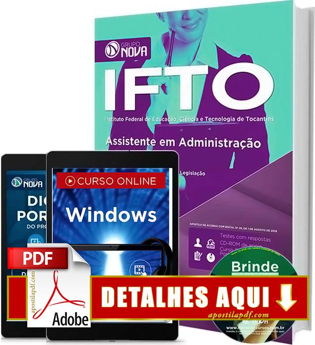 Apostila IFTO 2016 Assistente em Administração Impressa