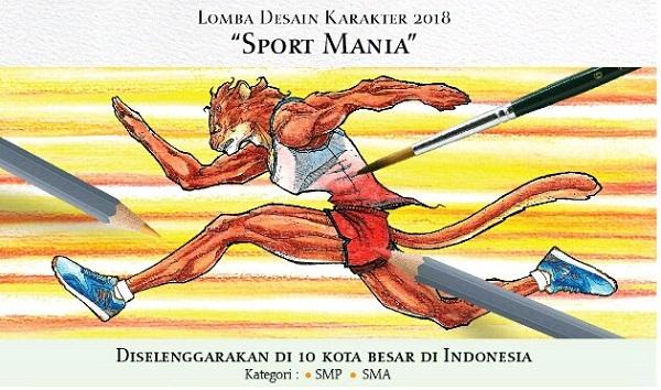 lomba design karakte sport mania
