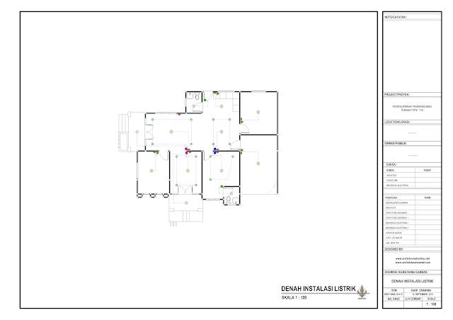 Denah Instalasi Listrik Rumah Lantai 1