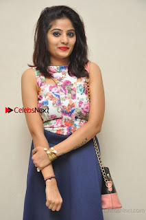 Kannada Actress Mahi Rajput Pos in Floral Printed Blouse at Premam Short Film Preview Press Meet  0009.jpg