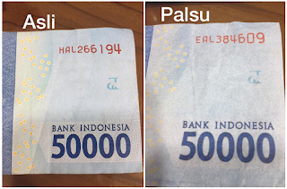 Uang Palsu Rupiah  Seri Baru
