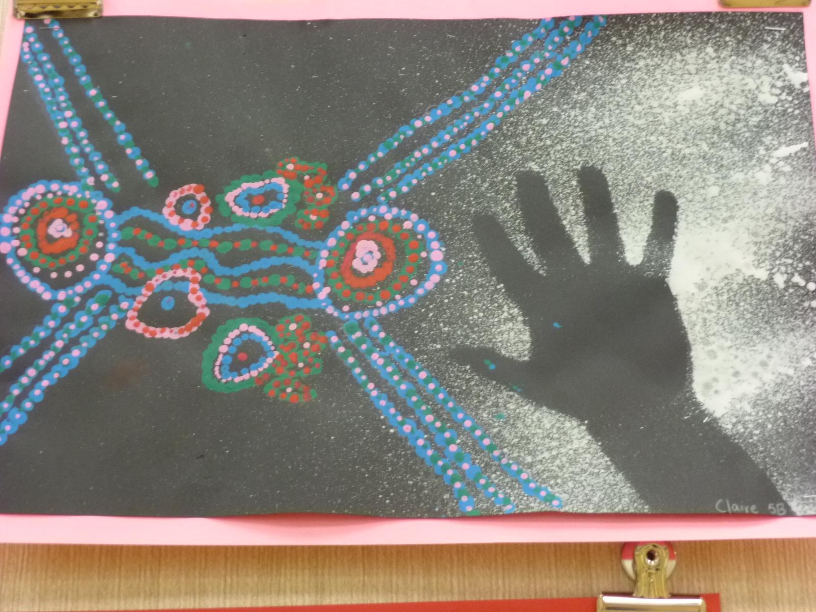 Mrs Werner S Art Room 5th Grade Aboriginal Dot Paintings
