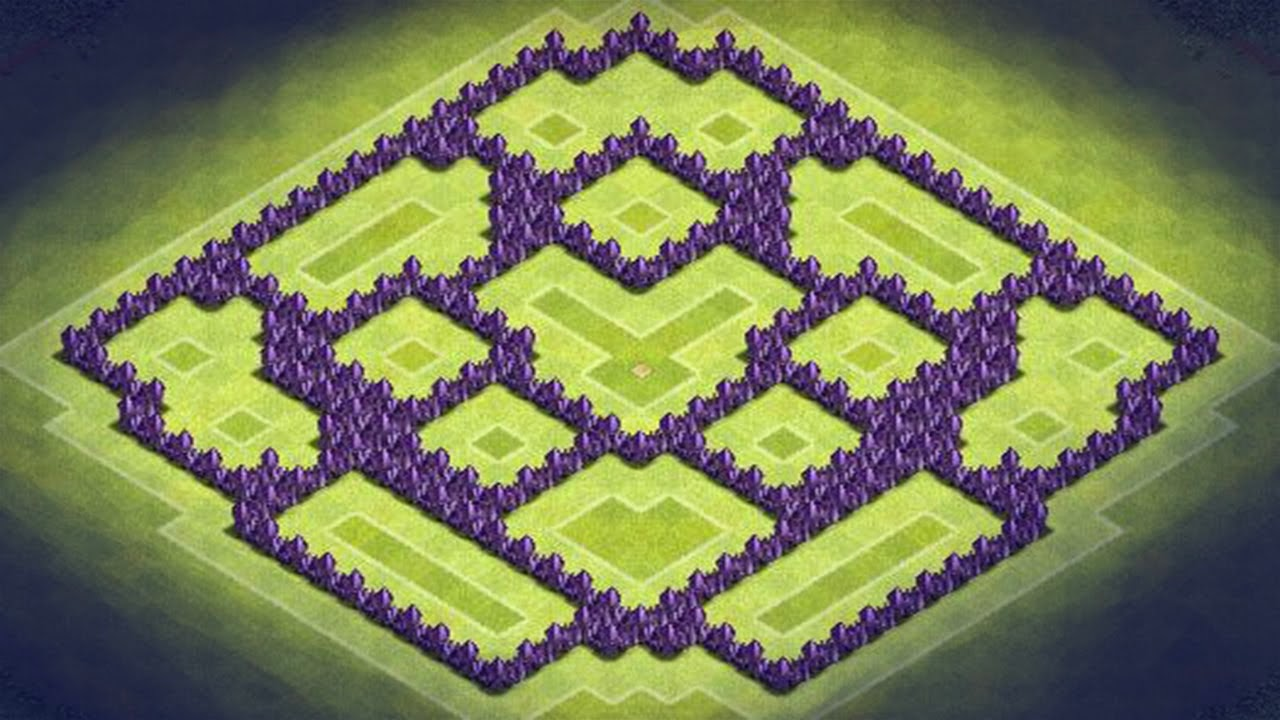 Clash Of Clan War Base TH 8 Picture