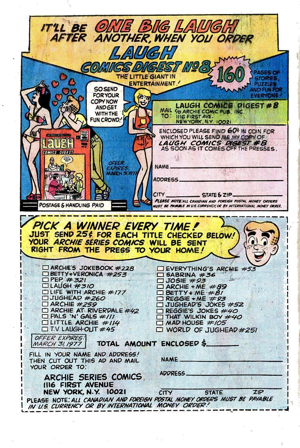 Read online Archie (1960) comic -  Issue #258 - 18
