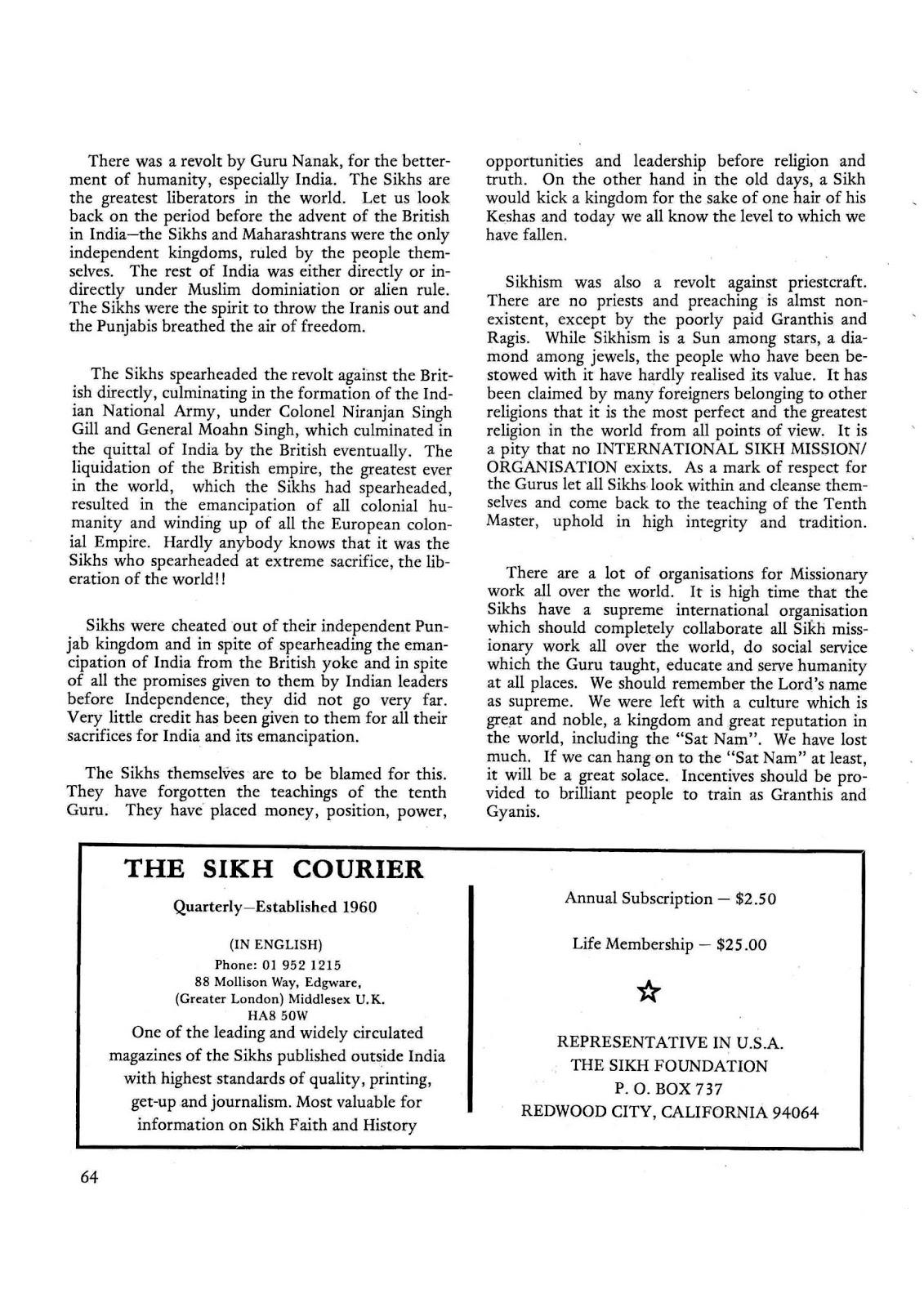 Sikh Digital Library: The Sikh Sansar USA-Canada Vol  5 No  2 June 1976