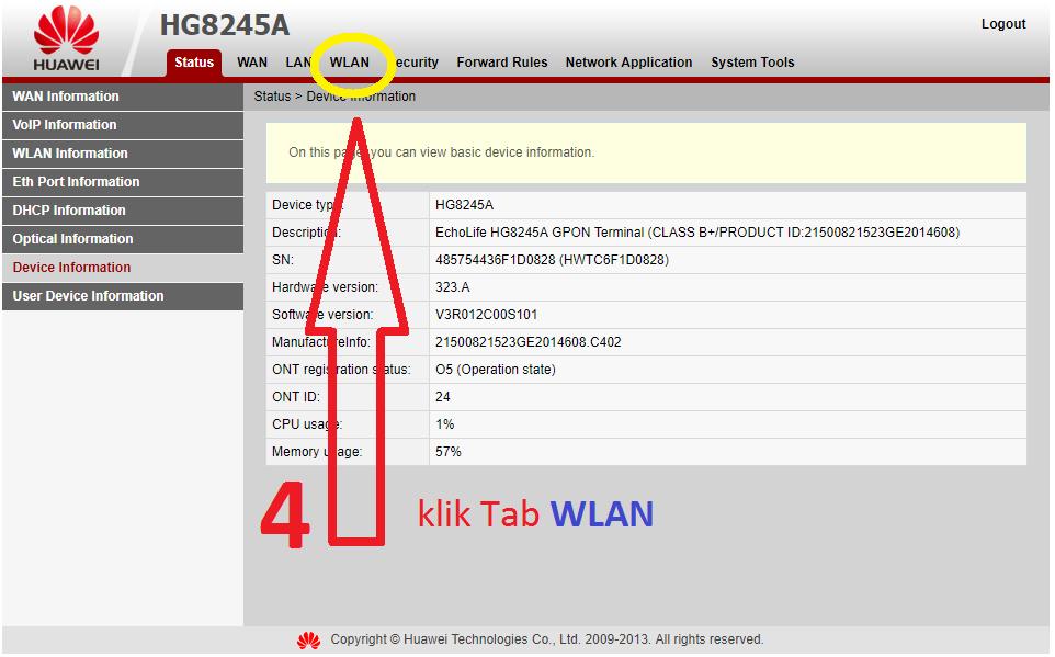Cara Mengganti Password Wifi Indihome ONT Huawei - Pemasangan ...