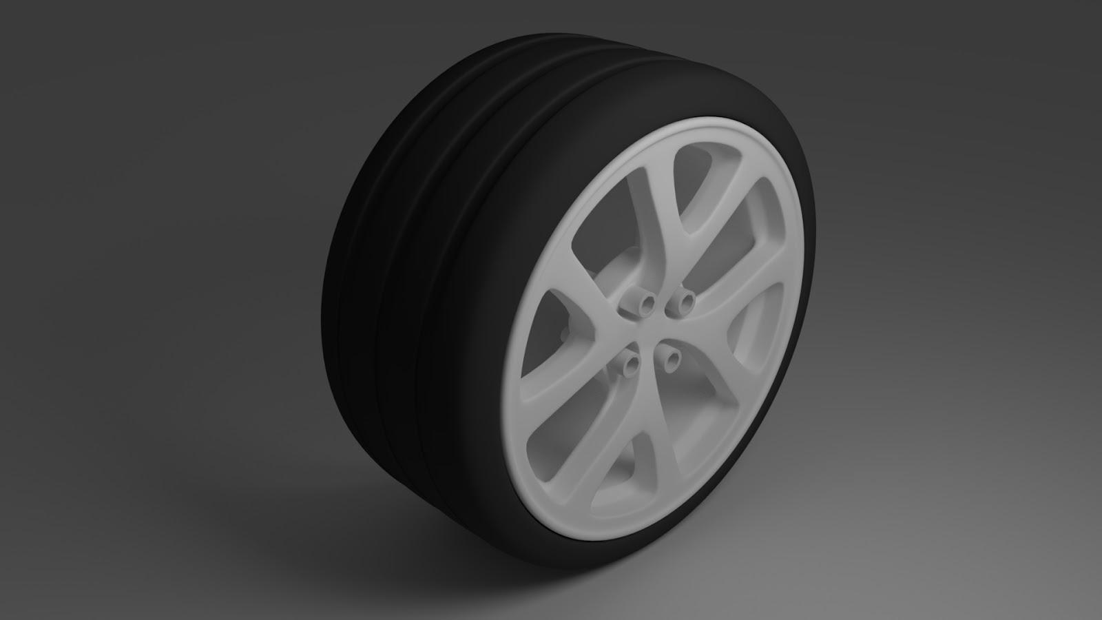 Free 3D Slick Tire 2 .blend