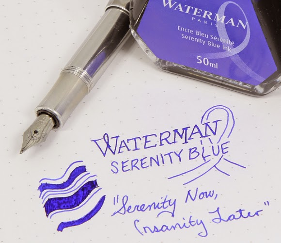Keep Calm and Write with Waterman Serenity Blue