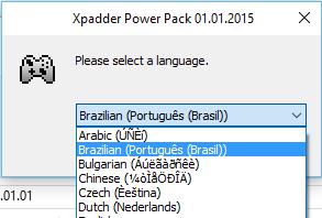 Xpadder passo 1.1: Escolha a língua que deseja para o instalador