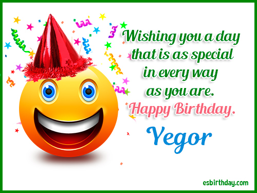 Yegor Happy Birthday