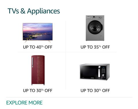 Amazon Deals on TV and Appliances :