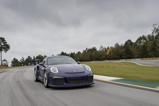 2016 New Porsche 911 GT3 RS Test Performance front eagle view