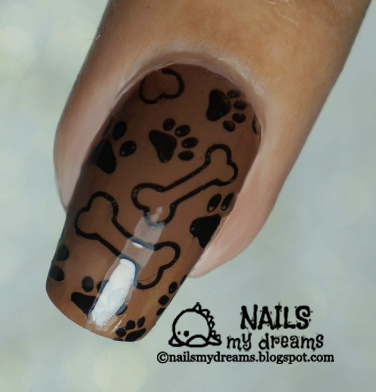 Nails My Dreams: Dog Themed Stamping Nail Art Using the Born Pretty ...
