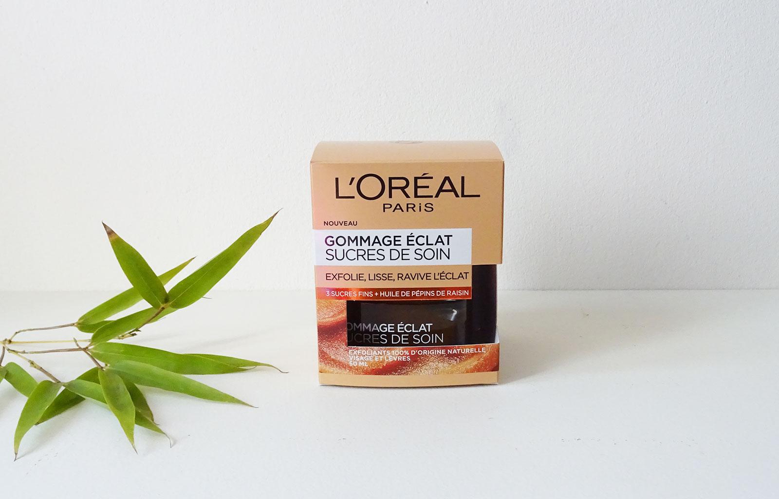 gommage éclat Sucres de soin L'Oréal
