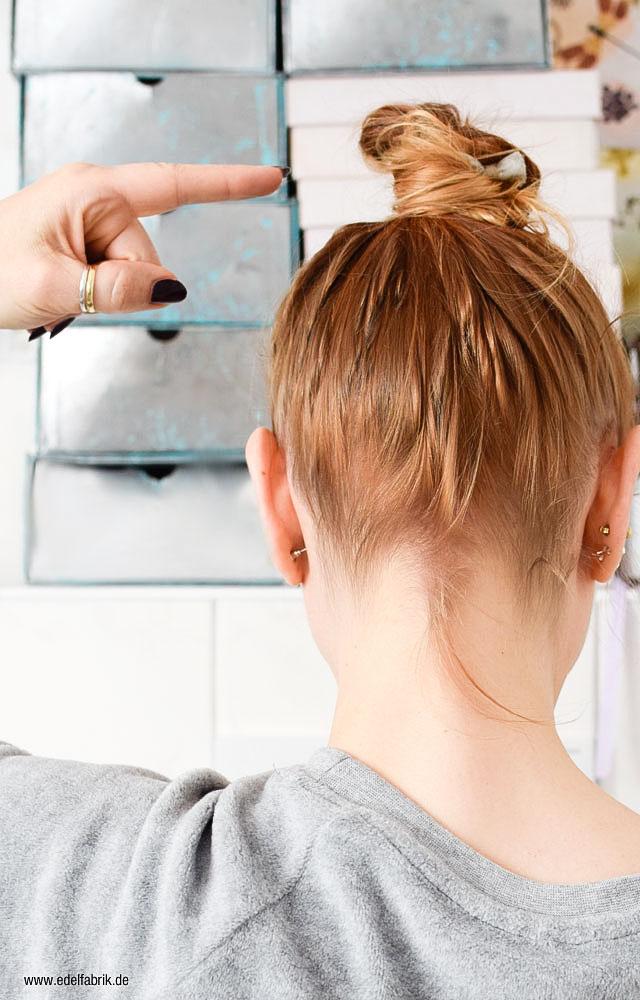 Tutorial für eine einfache Frisur für lange, dünne Haare