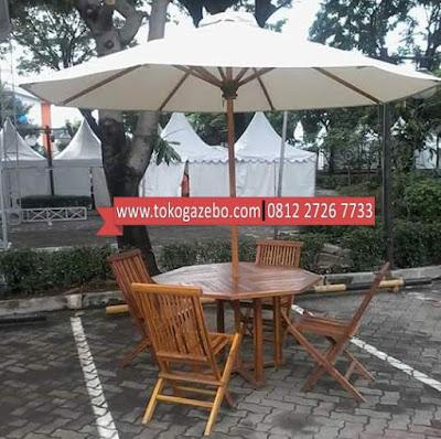 Payung Jati Meja Tenda