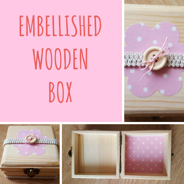 Embellished wooden box