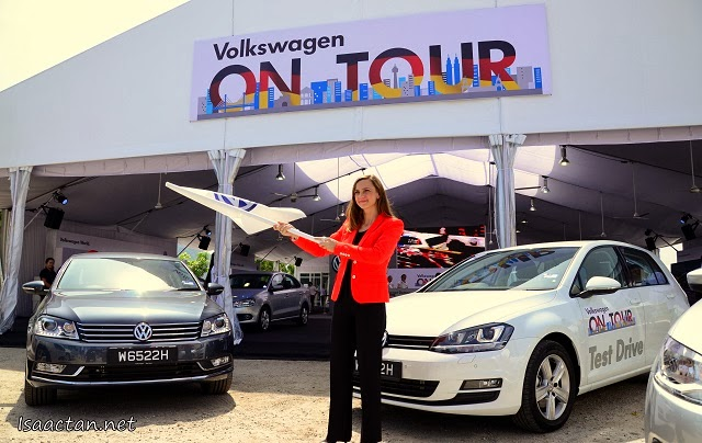 And Volkswagen On Tour is officially launched by Ms Petra Schreiber