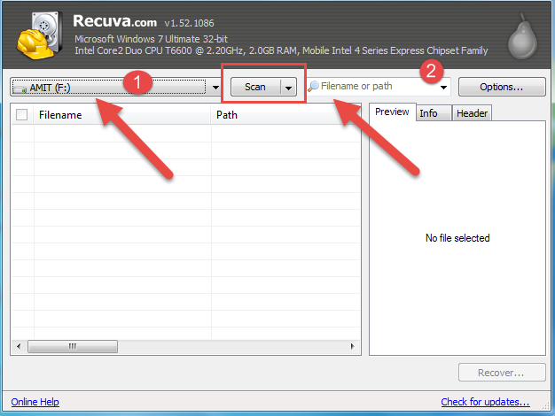 recover file document movies video software image