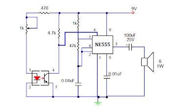 schematic diagram smoke detector